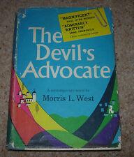 THE DEVIL'S ADVOCATE MORRIS L. WEST ~ 1960 HC/DJ