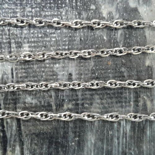 5 pcs,Free postage Oz Seller 304 Stainless Steel Rope Chain//Necklace 50cm