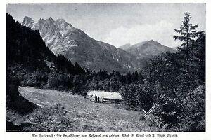 Le Sustenpaß: Ange Cornes Du Nessental Vu Historique Accueil De 1915-afficher Le Titre D'origine Pure Blancheur