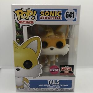 Funko Pop Games Sonic The Hedgehog Tails #641 Flocked Target Con Exclusive