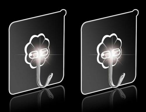 10-50x Transparent Handtuchhalter Selbstklebend Klebehaken Ohne Bohren Wandhaken