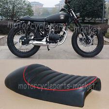 Custom Motorcycle Black Flat Brat Style Tracker Cafe Racer Seat Honda CB CG 125