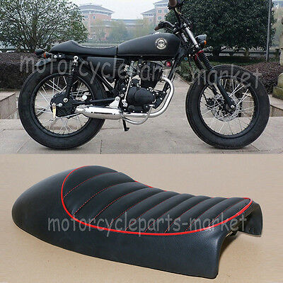 Motorcycle Black Flat Brat Style Tracker Cafe Racer Seat For Honda CB CG 125 US