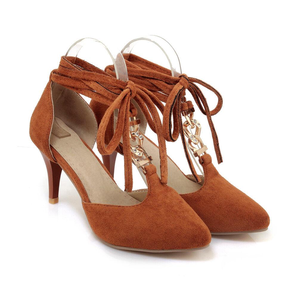 Damen Schuhe Pumps Sexy Stiletto Riemchen Sandalen Sommer Elegant Sexy Pumps Gr.34-43 Top 5ca4b3