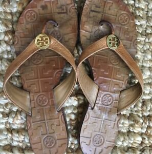 4221f6f3af1ae Tory Burch Thora Patent Leather Thong Flip Flop Sandals Women s Size ...