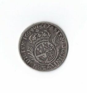 1694-ITALY-VATICAN-POPE-DOMINI-BENEDICT-SILVER-COIN-25mm-4-4g