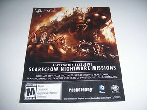 Details about Scarecrow Nightmare Missions For Batman Arkham Knight  Download Code DLC For PS4