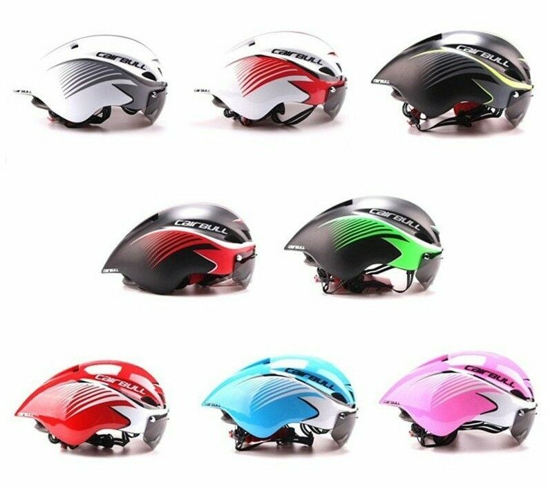 Triathlon Bike Casco Bicicletta Integralmente Modellata Aerodinamic Ciclismo