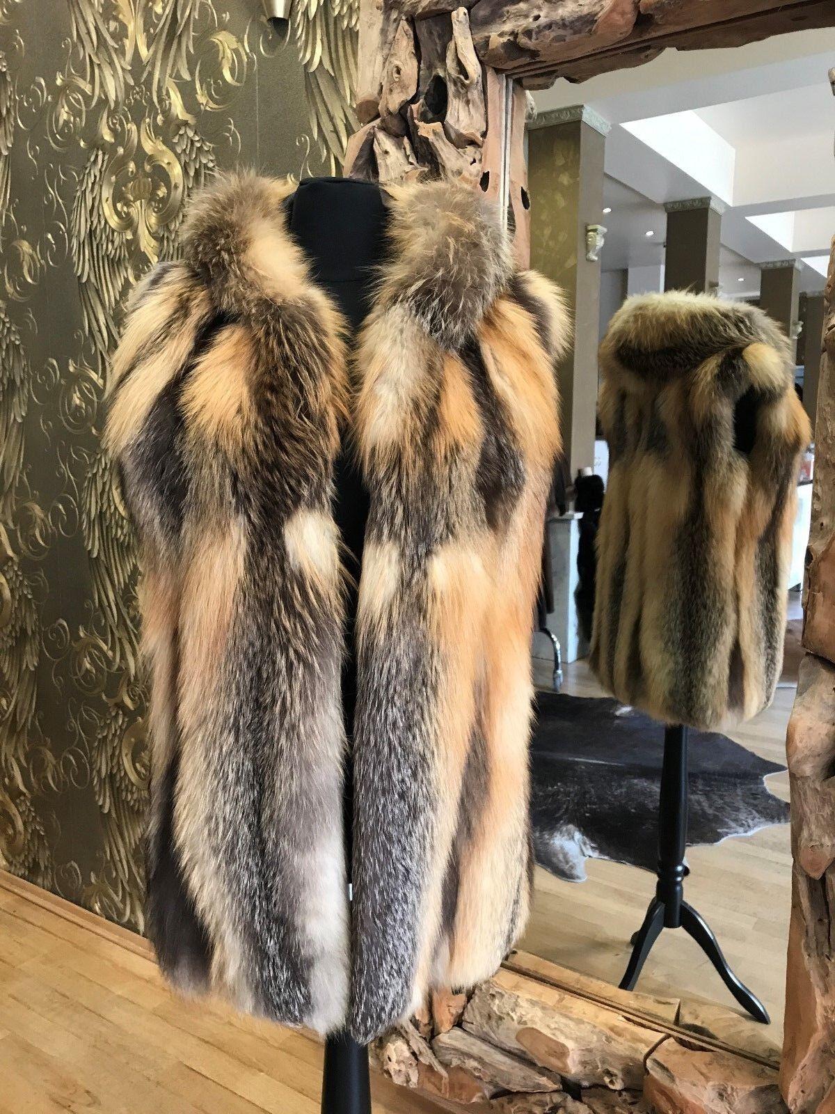 Fox Vest Fur Vest gulden Island Fox Vest Fox Fur Vest Vest Fox Vest