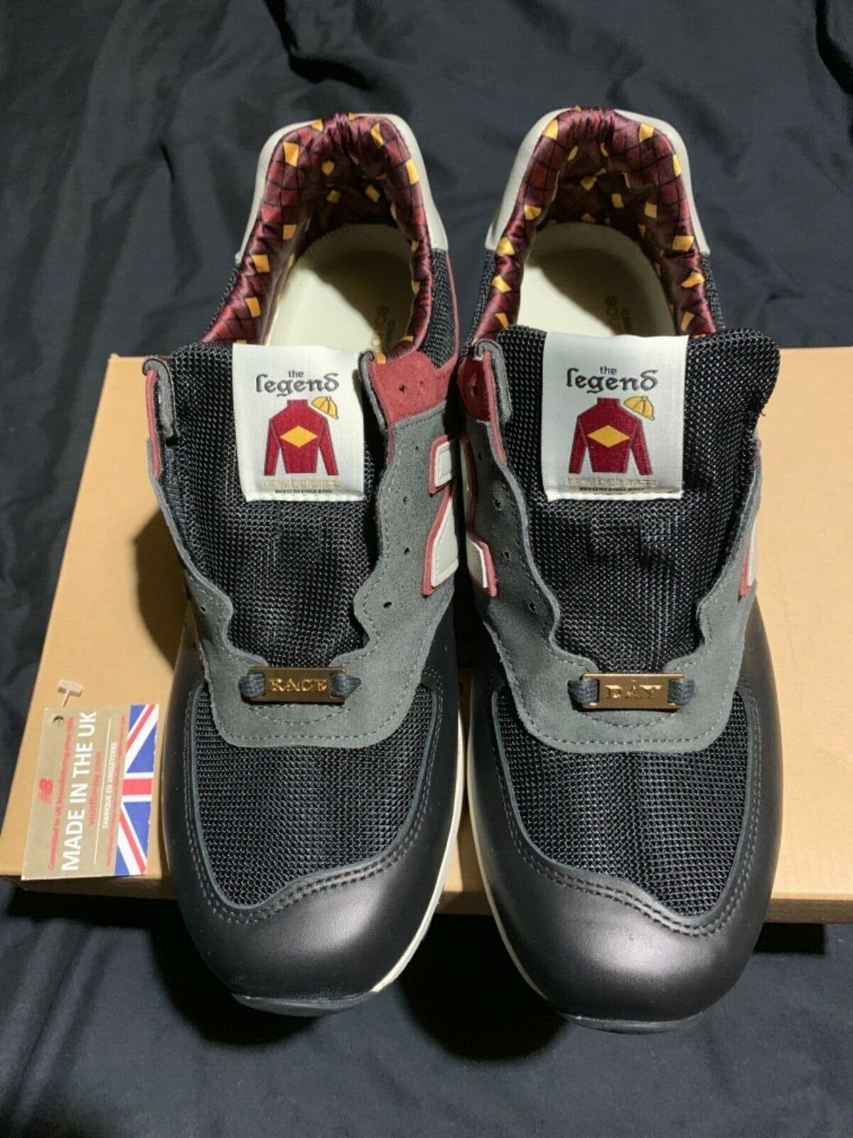 dc3872d76007 NEW BALANCE M576RGR  RACE DAY  GREY   RED. Size Brand NEW. in England Made  nnjpar4656-Trainers
