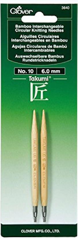 Clover Takumi Bamboo Interchangeable Circular Knitting Needles No.10 6.0mm 3640