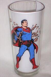 "1975 DC Comics Superman 6/"" Drinking Glass Pepsi Collector Series"