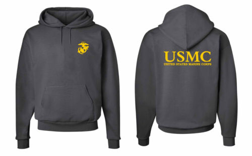 Mens U.S Marine Corps USMC Military Army Enforcement Hooded Sweashirts S-5XL