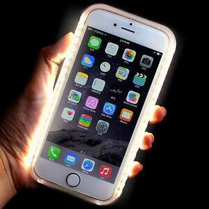 Luxury-LED-White-Light-Up-Selfie-Luminous-Cover-Case-for-iPhone-5-SE-6S-7-Plus