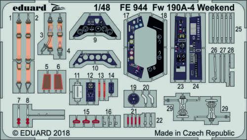 EDUARD ZOOM FE944 Detail Set for Eduard Kit Fw190A-4 in 1:48