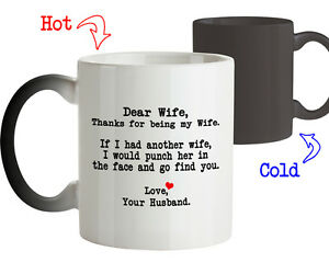 Magic Mug Gift For Wife Thanks For Being My Wife Birthday Gift For