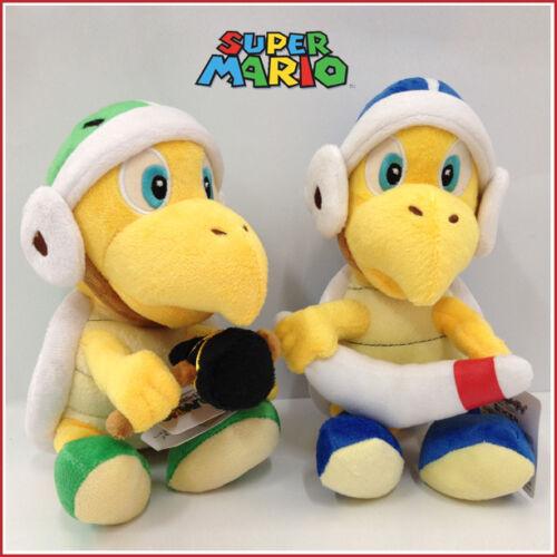"2X Super Mario Bros Boomerang Hammer Koopa Troopa Bro Turtle Soft Plush Toy 8/"""