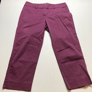Loft Sz 10 Original Crop Purple Pants A1480