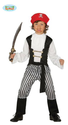 GUIRCA Costume pirata bucaniere corsaro carnevale halloween bambino mod 8334/_