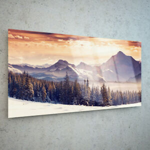 ANY-SIZE-Glass-Wall-Art-Picture-Canvas-Digital-Print-Landscape-Winter-26512823