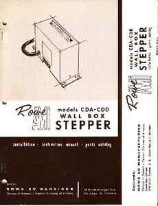 ROWE CDA-CDD Wallbox Stepper juke box Manual & parts catalog NEW ?CEA?