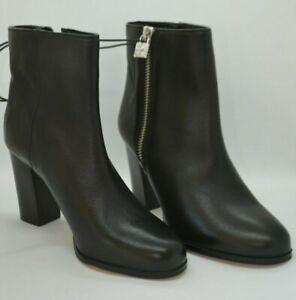 Margaret Black Leather Bootie, Black