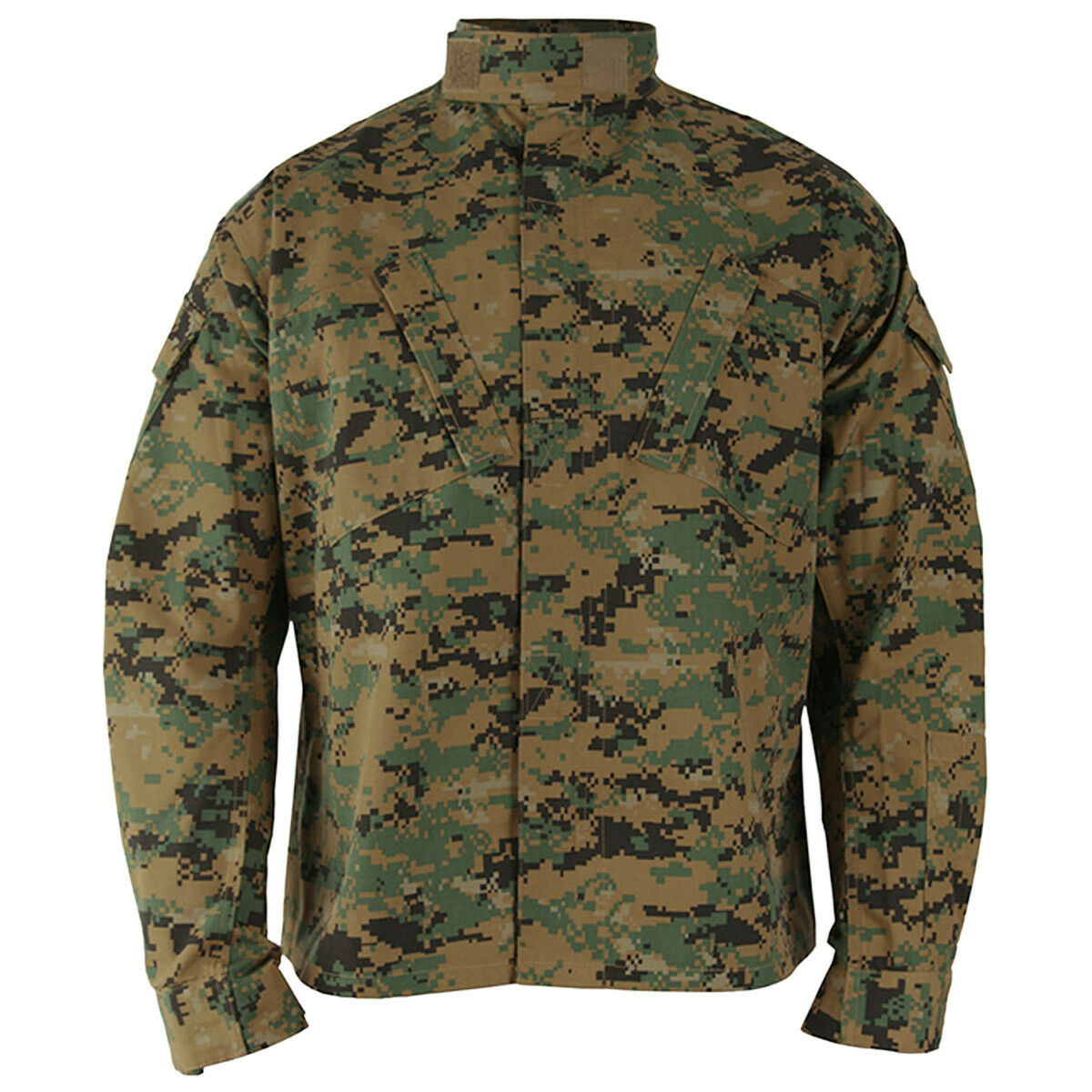 Propper ACU Coat Mens Tactical Teflon Cadet Patrol Shirt Digital Woodland Camo
