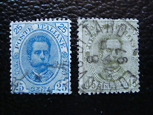 Italy-Stamp-Yvert-and-Tellier-N-61-62-Obl-A11-Stamp-Italy-E