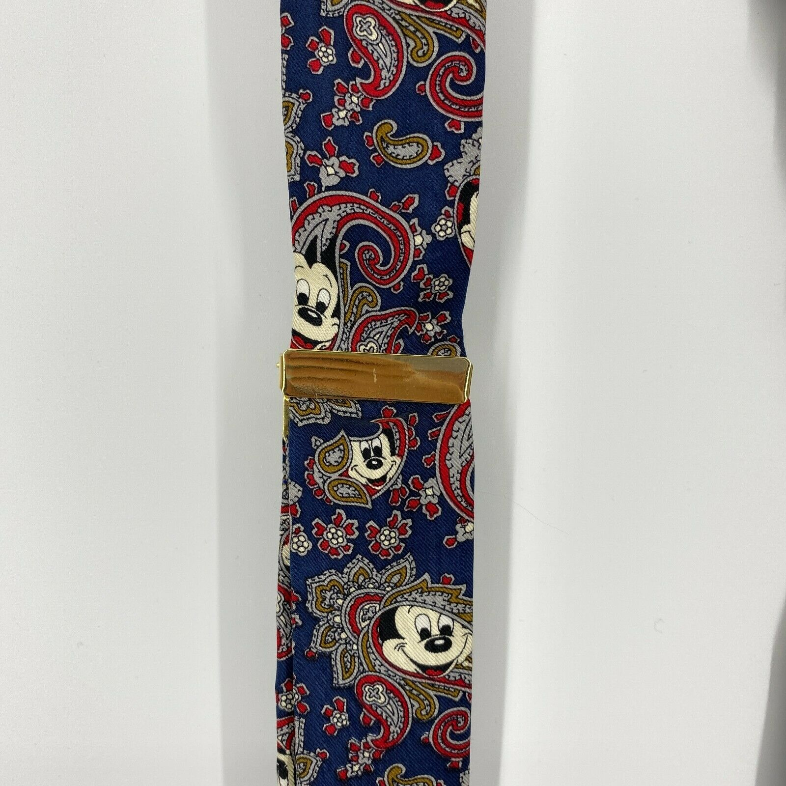 Balancine The Tie Works Suspenders Mickey Mouse Disney Blue Red Paisley