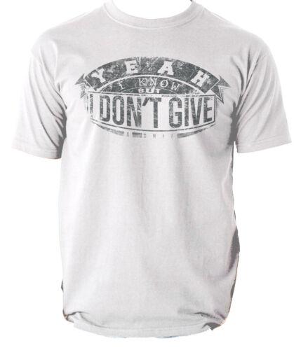 I DONT GIVE A SH!T t shirt FUNNY VINTAGE RETRO mens t-shirt tee