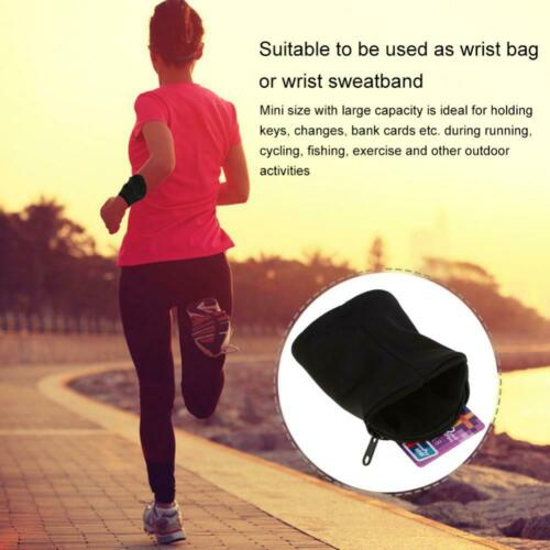 Outdoor Sport Running Jogging Exercise Gym Wrist Band Pouch Wristband Wallet