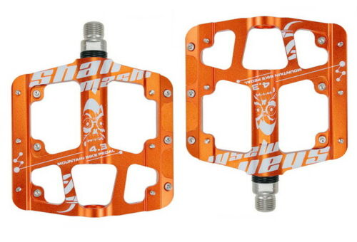 Aluminum Road MTB Mountain Bike FR Bicycle Pedal 3 bearings Flat Cycling Pedals