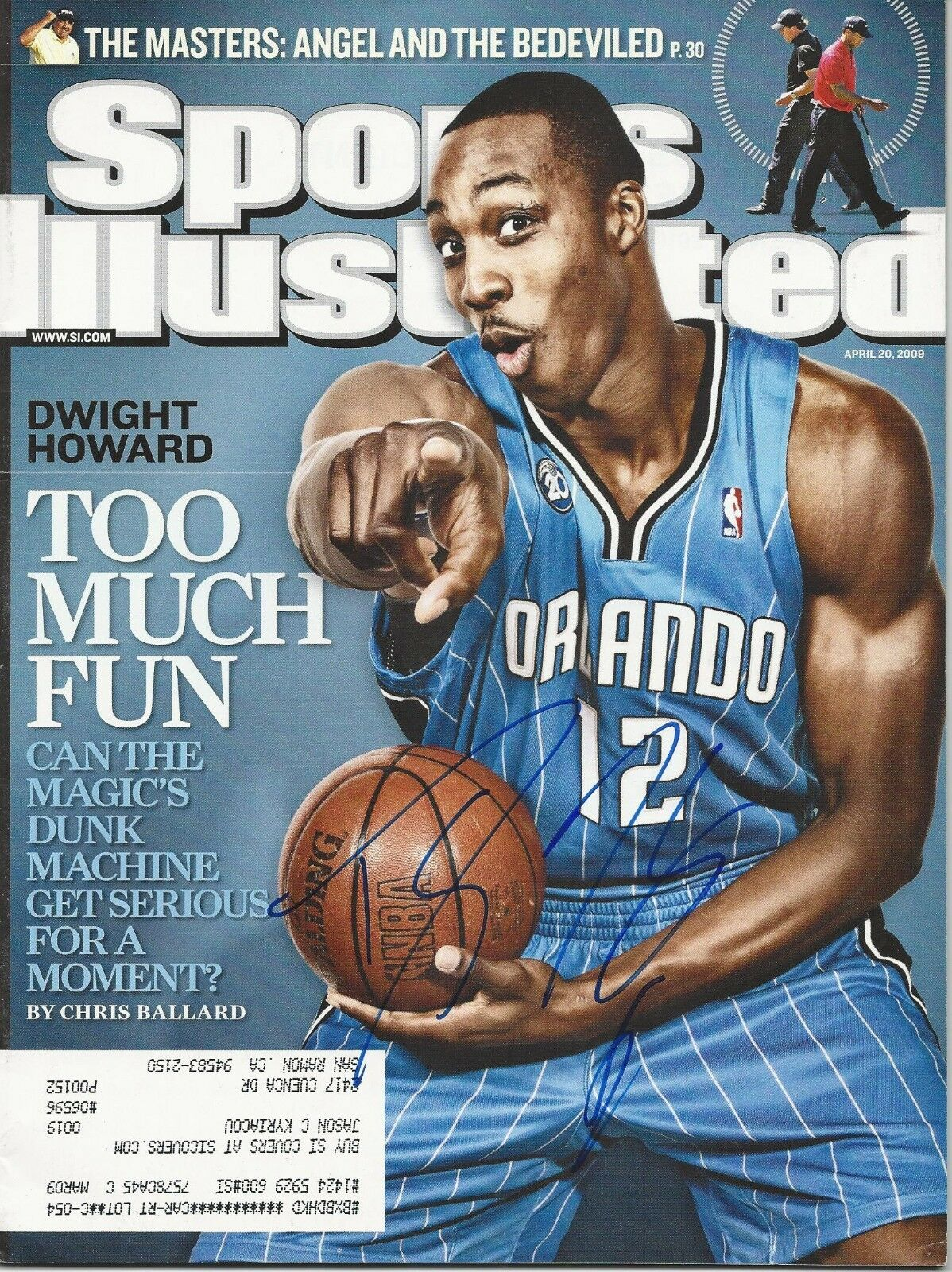 GFA Sports Illustrated Dwight Howard Signé si Revue AD1 Coa