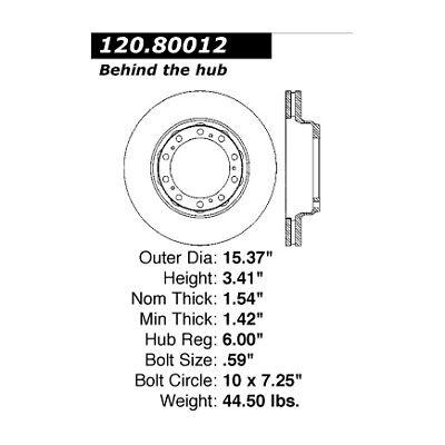 Disc Brake Rotor-Premium Disc Preferred Rear Centric 120.80012