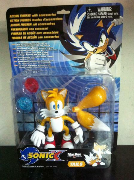 Sonic X The Hedgehog TAILS Action Figure 14 cm MOC, 2000