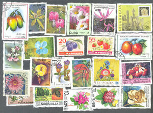 Flowers-Plants-trees-Shrubs 500 all different stamp collection