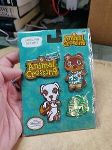 Animal Crossing New Horizons Enamel Lapel Pins. 4 Piece Nintendo Switch. NEW