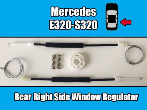 MERCEDES E320 S320 WINDOW REGULATOR REPAIR KIT SET REAR RIGHT