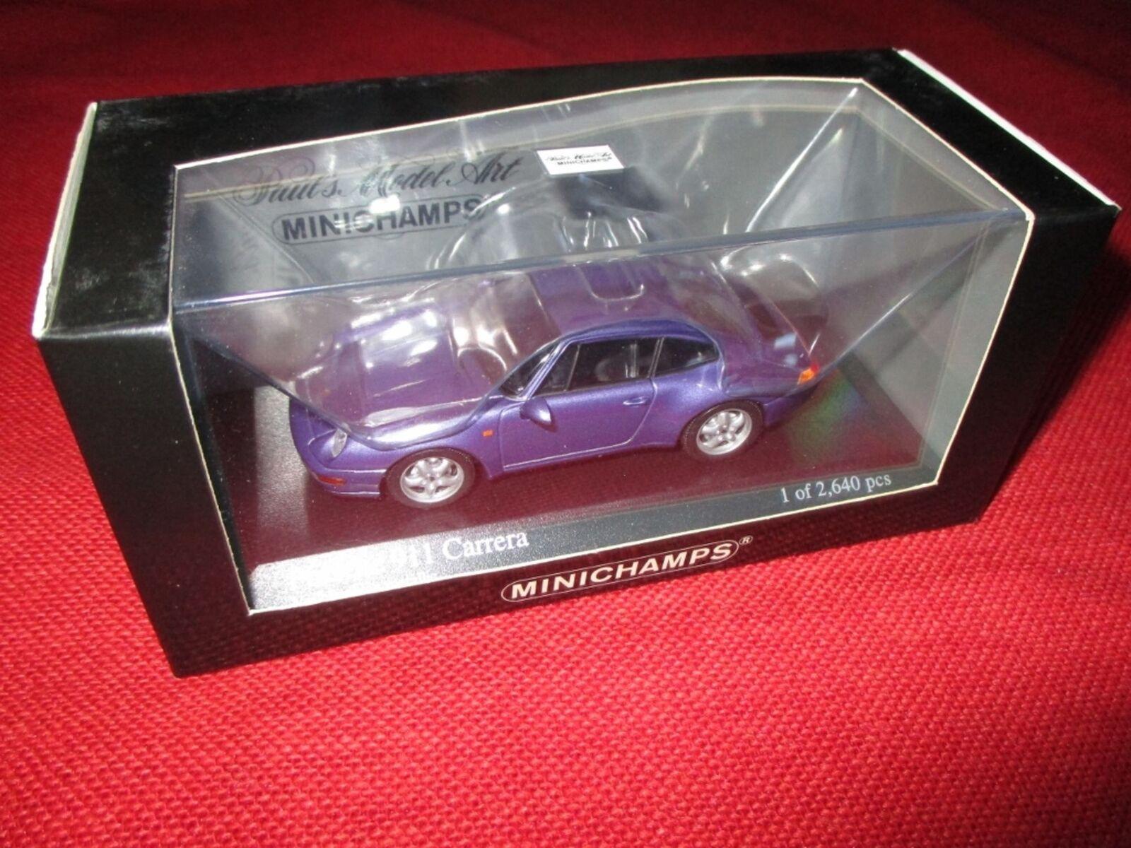 MINICHAMPS ® 430 063011 1 43 Porsche 911 1993 violet Metallic neuf neuf dans sa boîte