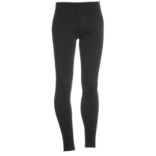 Termo Wool Medium Warm Merino Thermal Long Johns Leggings with Zipper Fly Green