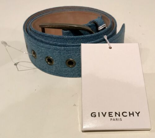 Authentic Givenchy Paris made in Italy denim belt size 36 mens rare
