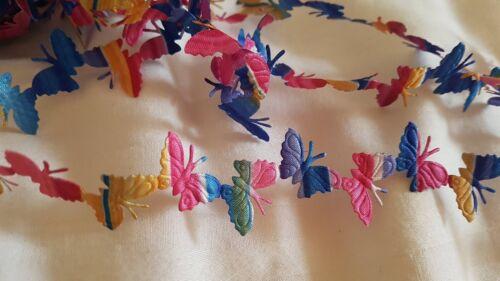 20 mm x 2 m Rainbow Papillon Ruban Ruban Bordure Tresse à Coudre
