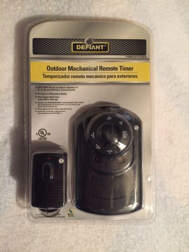Defiant 15 Amp 24-Hour Outdoor Plug-In Mechanical Timer with 2-Grounded Outlets
