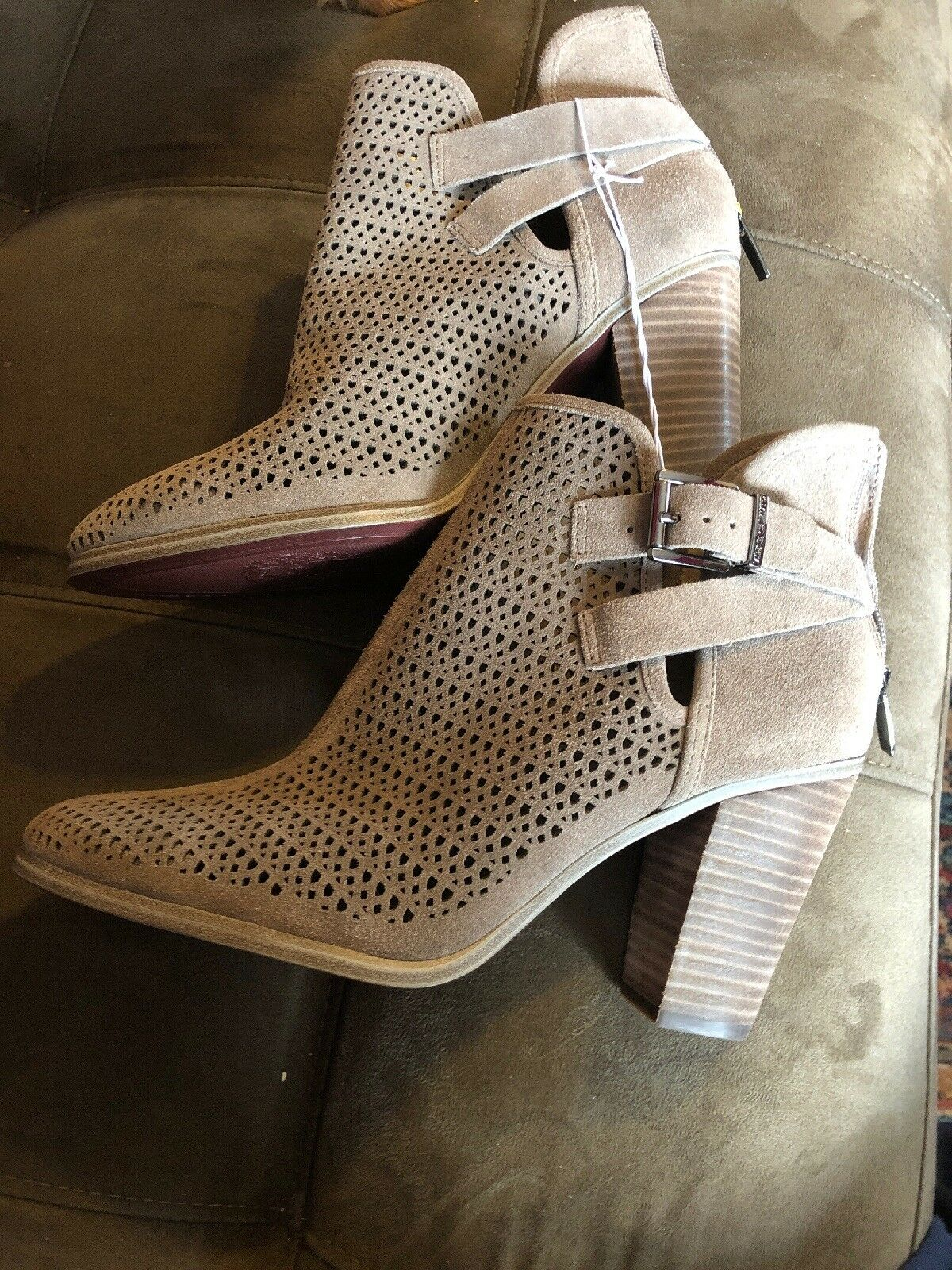 Vince Camuto-VP-Fanchon- Dark Taupe Ankle Bootie Size 10