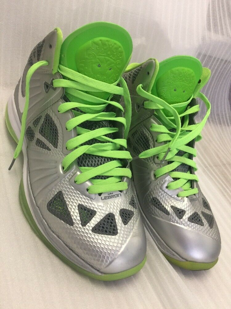 Nike Lebron 8 P.S. Dunkman Metallic Silver Electric Green Price reduction Wild casual shoes