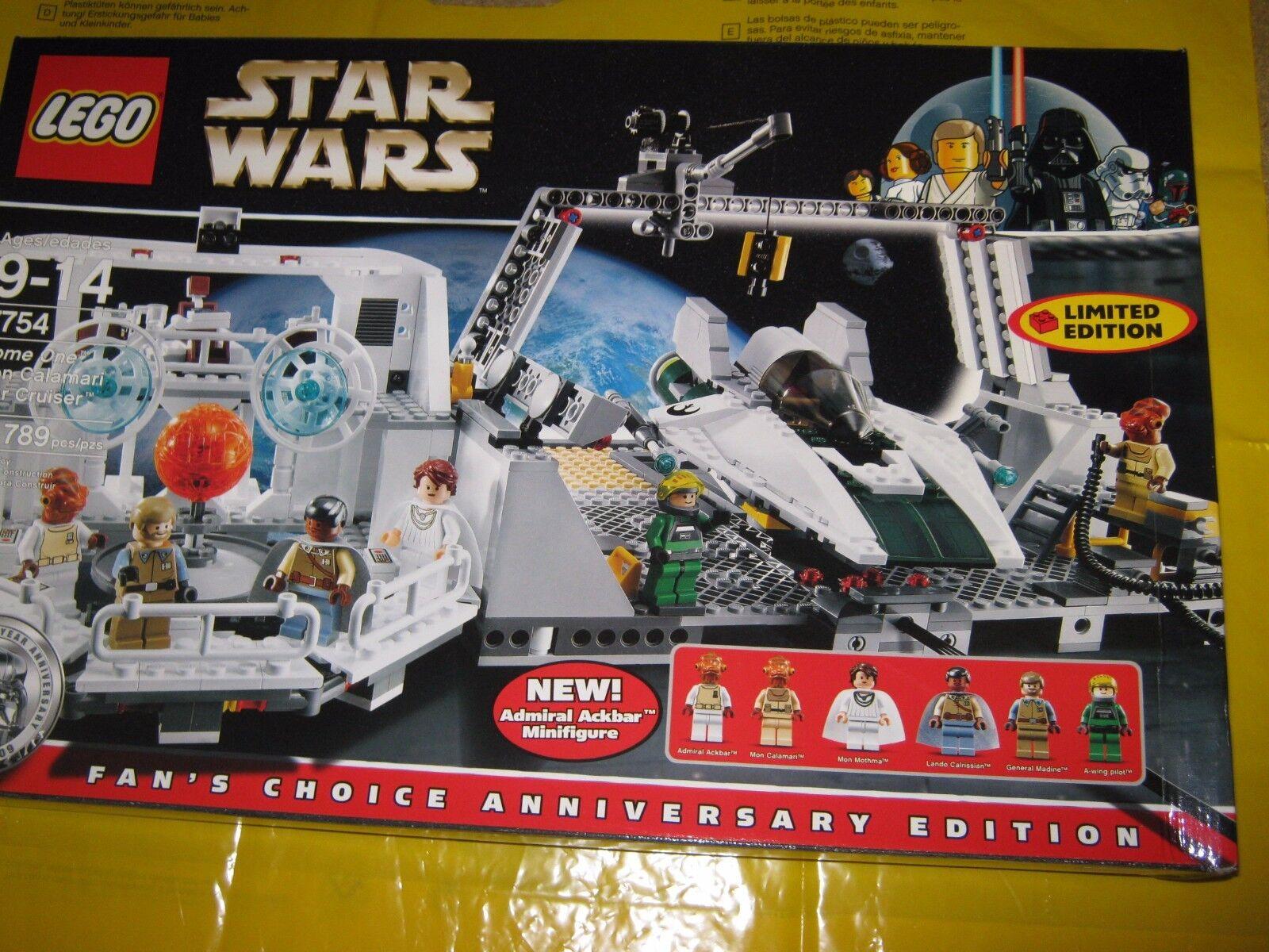 LEGO 7754 Star Wars a casa una MON CALAMARI STAR CRUISER BNISB-RITIRATO 2009 NUOVO