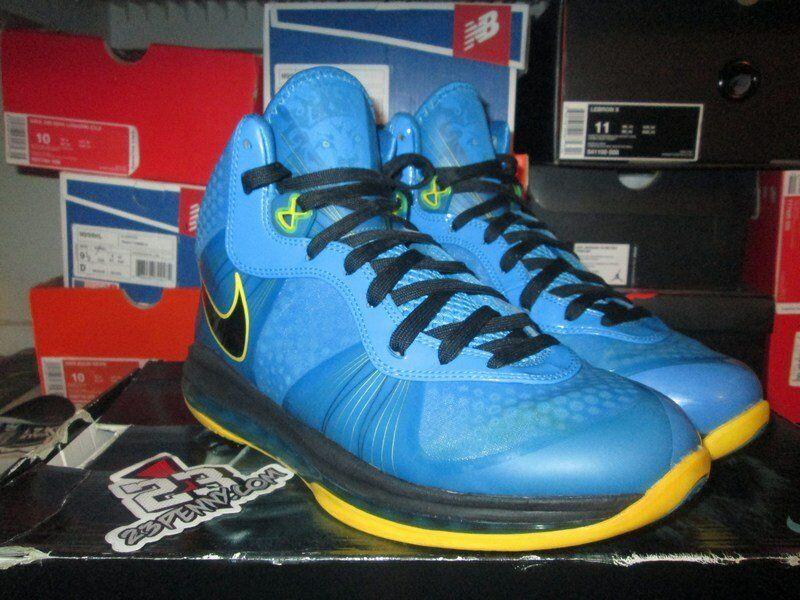 Vendita Nike Air Max Lebron Viii 8 V2 Entourage Foto Blu 429676 401 Tour Giallo