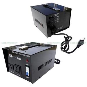 ST 2000W Watt Step Up/Down AC 110V to 220V Voltage Converter Transformer