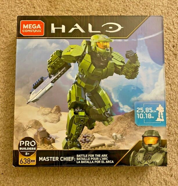 Complete Set Of All 8 Figures Mega Construx Halo Battle For The Ark
