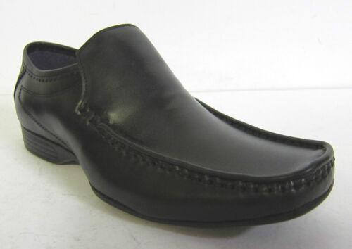 Hommes Poli Seulement Noir Habillé À Enfiler Chaussures Lambretta 209501 w14SB5